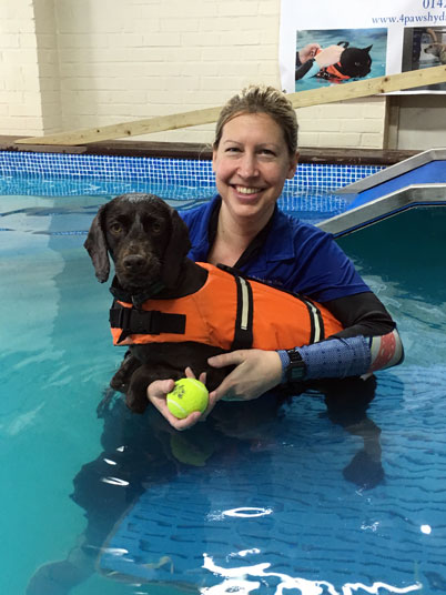Nikki at 4 Paws Hydrotherapy Centre Ringwood